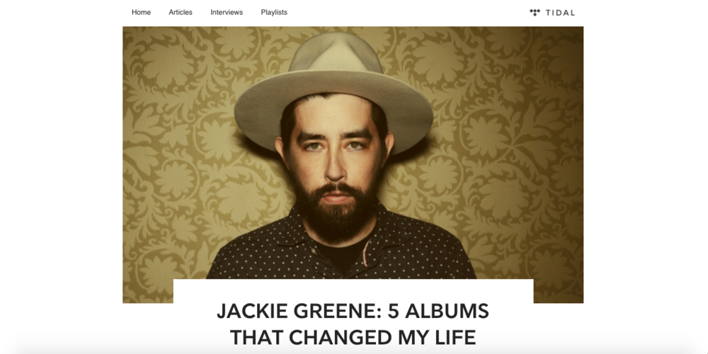 "Jackie Greene: 5 Albums That Changed My Life - August 16, 2017""Cowboy poet"" of Americana and blues (according to Bob Weir) Jackie Greene is out with his new EP, The Modern Lives – Vol 1, this fall and, to celebrate, the musician put together a list of some albums that changed his life..."