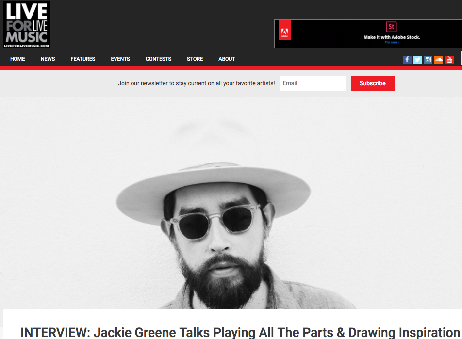 Interview: Jackie Greene Talks Playing All The Parts & Drawing Inspiration From Limitations - August 21, 2017 As he puts the finishing touches on the new release and gears up to return to the road, we caught up with Greene to see how all his various endeavors are progressing...