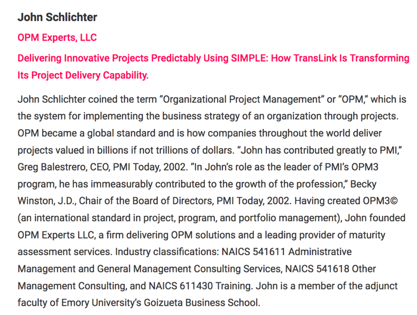 Delivering Innovation Predictably - OPM Experts, LLC