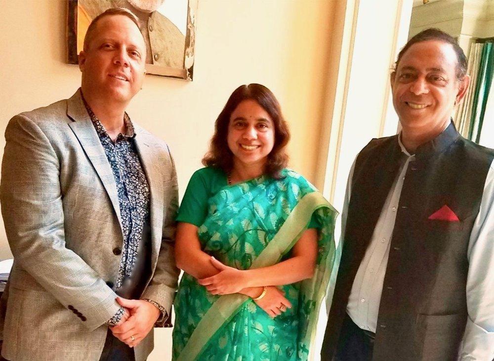 Left to right: John Schlichter, Swati Kulkarni, and Shailesh Lakhtakia.