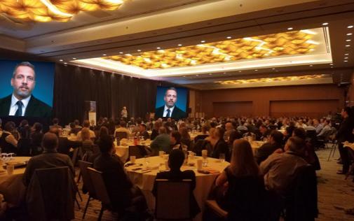 John Schlichter gave a closing keynote address on innovation.