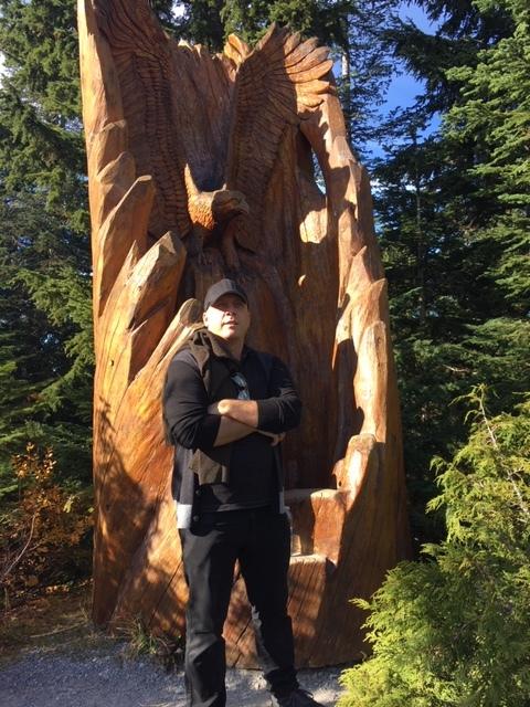 John Schlichter on Grouse Mountain.