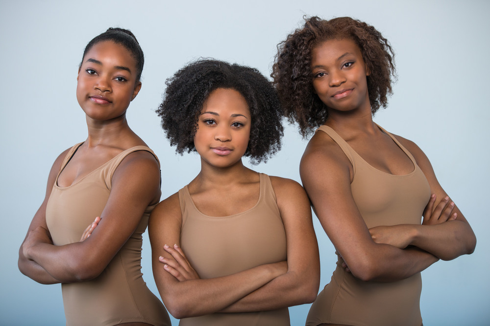 Each of these beautiful brown girls are wearing our TIANA shade. Photo courtesy of  Brown Girls Do Ballet.