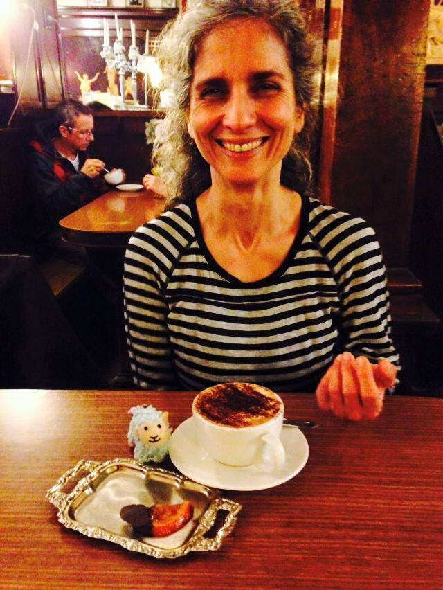 This photo is taken by my sister Sara and I believe this is actually coffee but I had to share because my mom is the prettiest :D