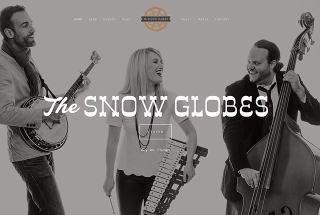 "Our new website is here! Check out www.thesnowglobes.com for a sneak preview of our new EP, ""Milk and Cookies"" in the music section (link in profile). #thesnowglobes #tistheseason"