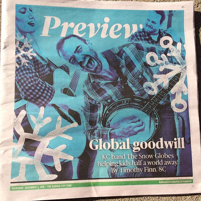 Good morning, Kansas City. #thesnowglobes #kansascitystar #andthefrontpagetoo