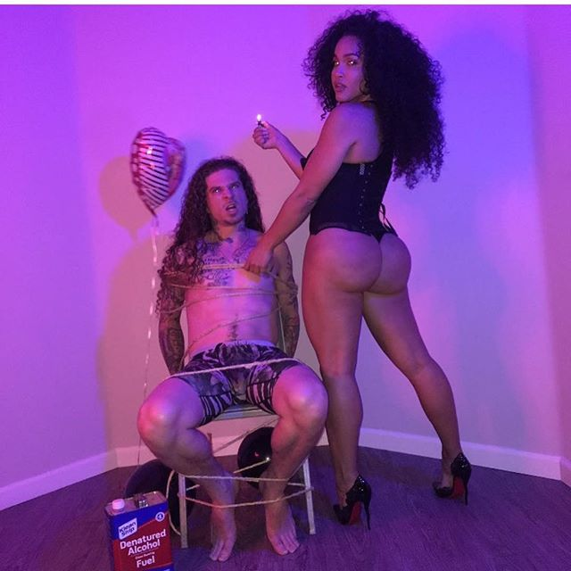 #tbt that one time @rosaacosta tied me up and had her way with me 😜