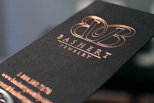 Foil stamped business cards by The Windmill