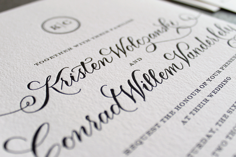 Kristen And Conradu0027s Beautiful Letterpress Invitations Were The Perfect  Introduction To Their Black Tie Wedding. We Canu0027t Decide Which We Like More    The ...