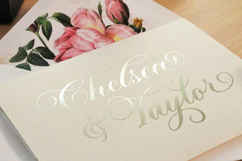 La Vie En Rose Themed Wedding Invitations In Blush And Gold The Windmill Paper Boutique