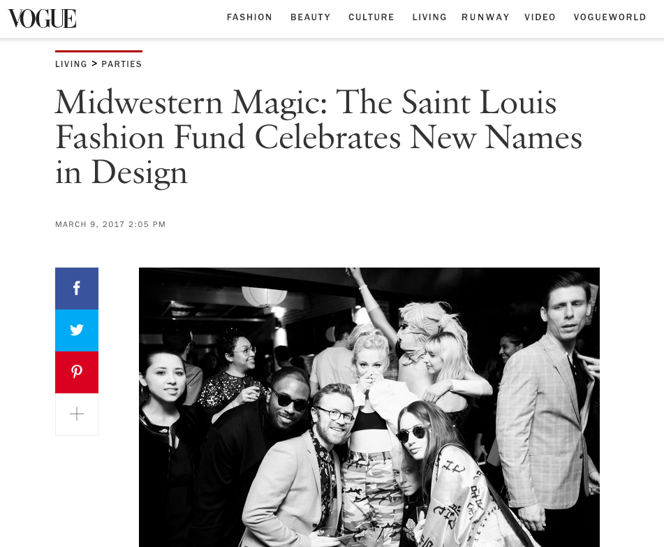 Event production featured in VOGUE Magazine