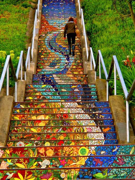 Beautiful Staircase in San Francisco