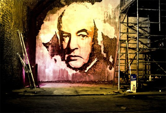 Alexandre Farto (a.k.a. Vhils) is a Portugal-based street artist renowned for his murals which he creates using stencils, chisels and drills.