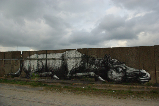ROA is known for his awesome animal murals