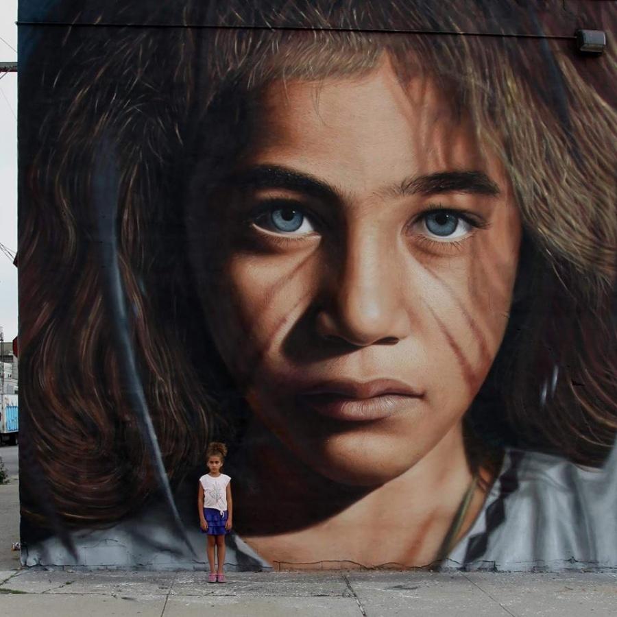 stunning piece in New York by artist Jorit AGOch