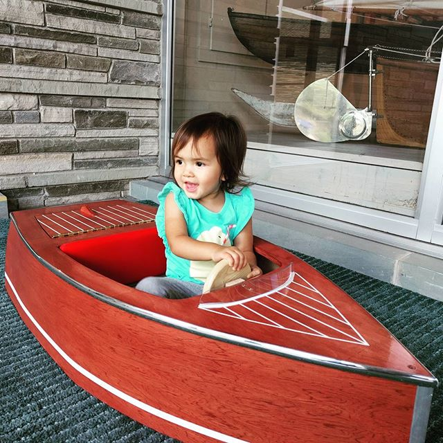 She's on a boat! #comesailaway #littlecaptain