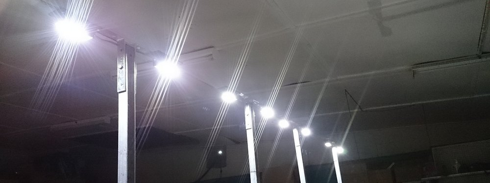 LED Lights in the testing phase.