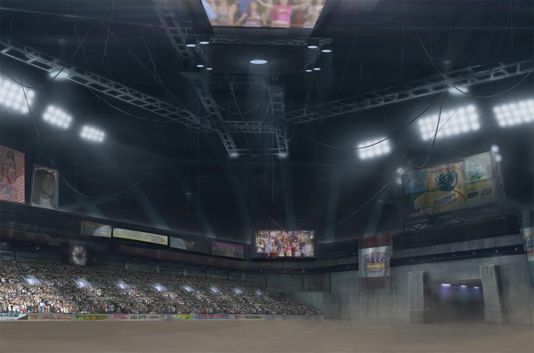 Idiocracy: Stadium Environment Concept Illustration
