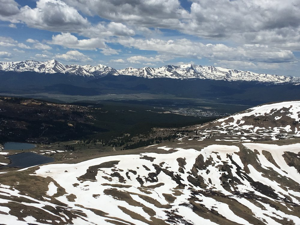 Coming down from Mosquito Pass. Leadville is located in the valley visible in this photo.