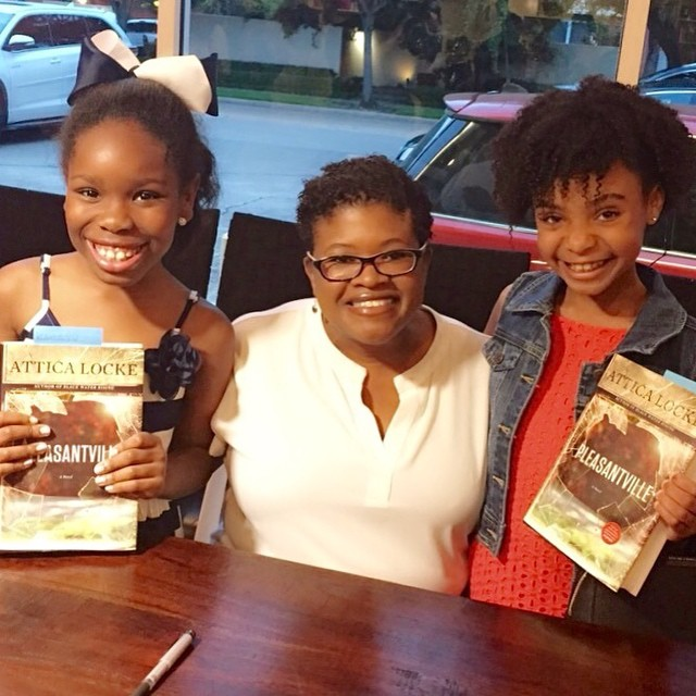Kamryn and Saniya with Author Attica Locke.
