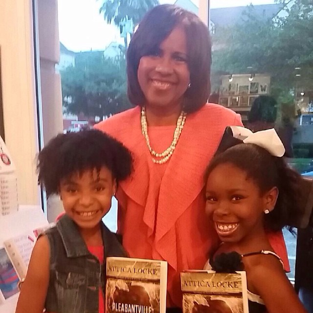 Saniya and Kamryn with news anchor and reporter, Mrs. Melanie Lawson.