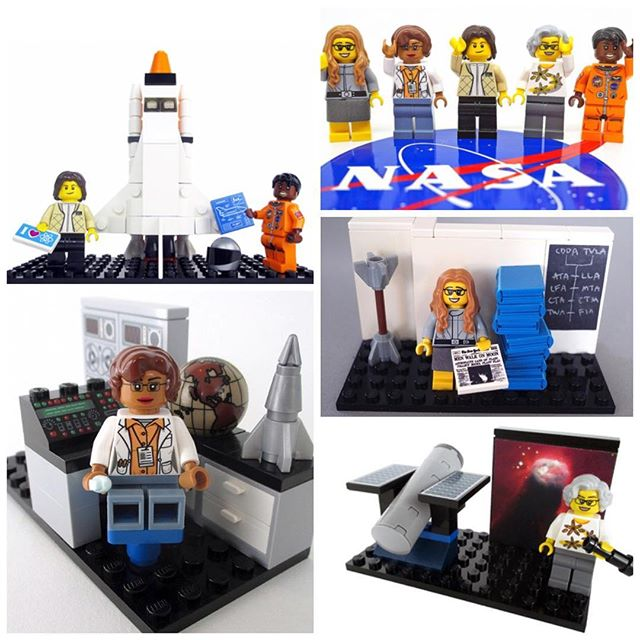 What a way to kick off Women's History Month! 🎉Five women pioneers of NASA are becoming Lego characters.  Computer scientist Margaret Hamilton, mathematician Katherine Johnson, astronomer Nancy Grace Roman and astronauts Sally Ride, the first woman in space, and Mae Jemison, the first African-American woman in space, are part of a new line Lego announced. #KamAndNiya #GirlRising #WomensHistoryMonth #GirlsRock HiddenFigures #STEM #WomenInSTEM