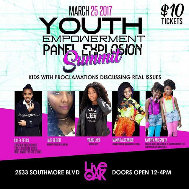 Houston! Join us on March 25th from 12pm-4pm at the Youth Empowerment Panel Explosion. We are excited to be apart of the panel to discuss topics such as self-esteem, bullying, goal setting, and more. We want to see you there! Tickets can be purchased online at Eventbrite or at the door. #KamAndNiya