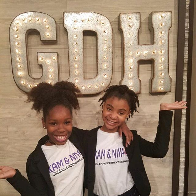 It was a great day at @greatdayhouston with @duncandeborah and our friend @haileykisses! We talked about being #kidpreneurs, young entertainers, and our upcoming Kids Empowerment Summit supporting other young #entrepreneurs! We'll be at @liveoakhtx this Saturday from 12-4pm. Huge thanks to @khou11 & @mshautec for an awesome morning! #KamAndNiya #HaileyKisses #GreatDayHouston #KHOU #YouthEmpowerment