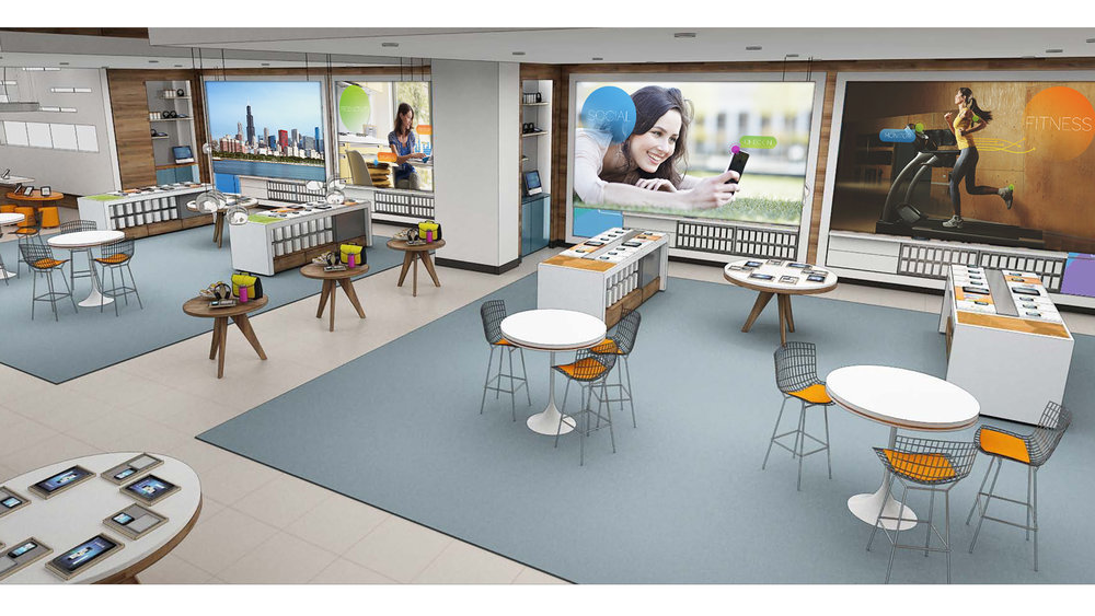 Flagship store - Digital display design for AT&T's flagship store on Michigan Ave in Chicago. interactive design / UX