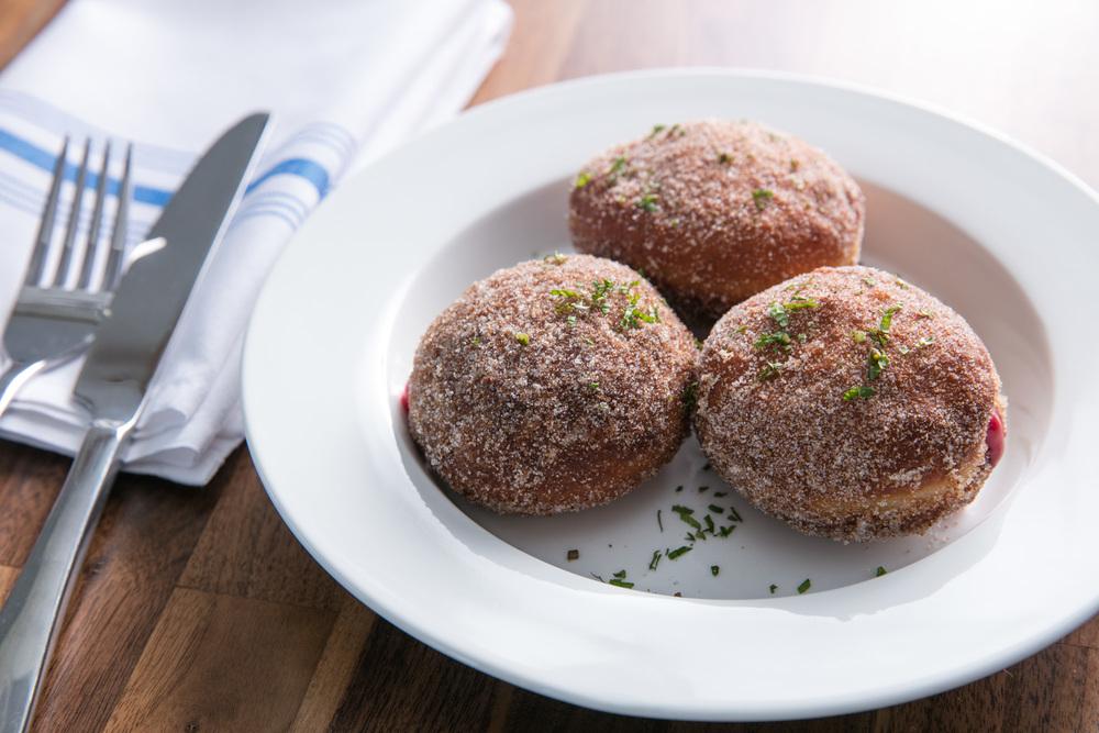 malasadas filled with guava custard