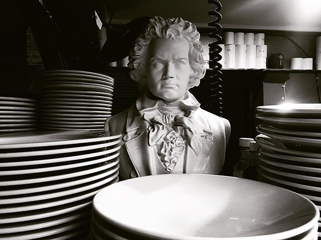 kitchen supervisor . . . #ludwigvanbeethoven #ludwig #filter #asheville #riverartsdistrict #dinner #foodandwine #restaurant #classic