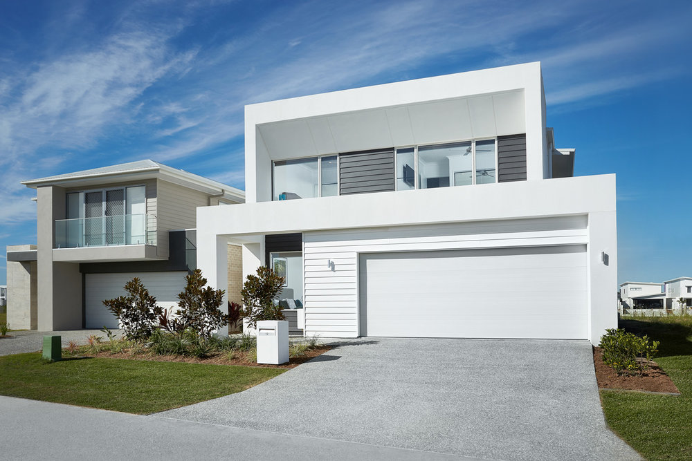 Front Facade of Homecorp Constructions built prize home