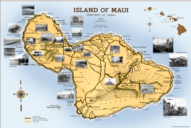 Hawaii Map Maui.Maui Maps Story Of Hawaii Museum