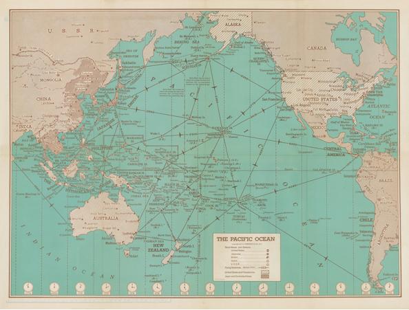 1942 HAMMOND WAR MAP — Story of Hawaii Museum