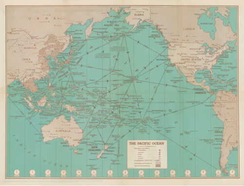 1942 HAMMOND WAR MAP — Story of Hawaii Museum
