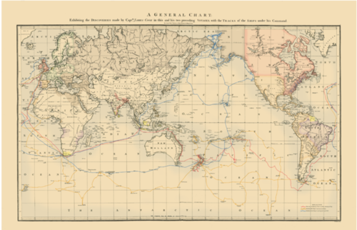 1784 Cook S General Chart Of The Pacific By Captain James Cook