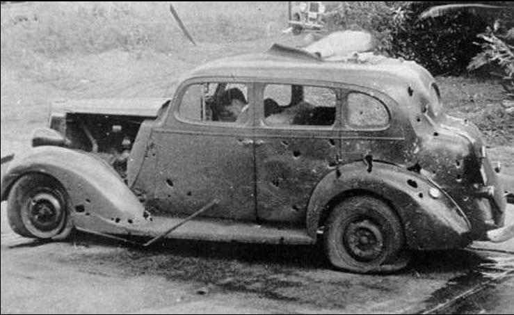 CIVILLIAN CAR STRAFFED
