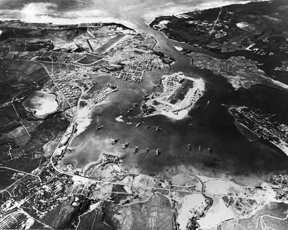 PEARL HARBOR LOOKING SW OCTOBER 1941