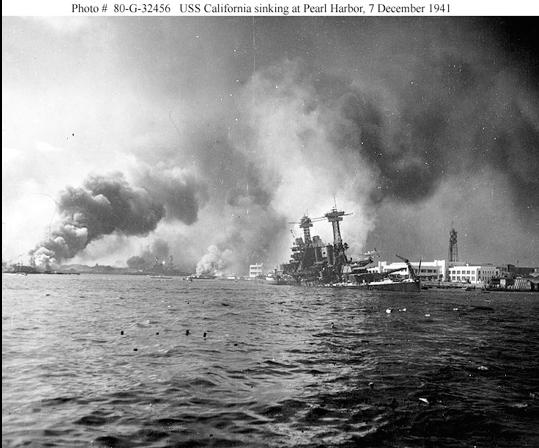 USS CALIFORNIA SINKING