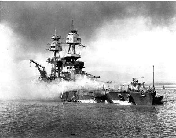 USS NEVADA BREACHED