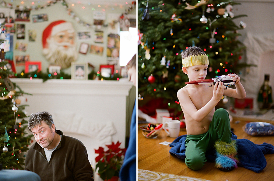 Christmas morning on film, by Sandra Coan, Little Bellows