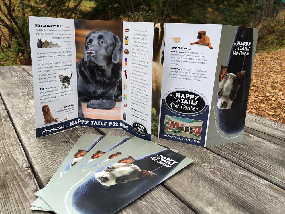 Happy Tails Pet Center Brochure Design