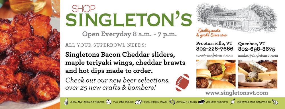 Singleton's Market Print Ad