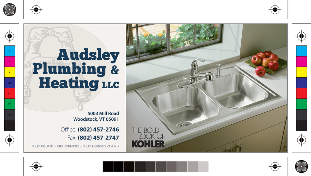Print ad for Audsley Plumbing & Heating