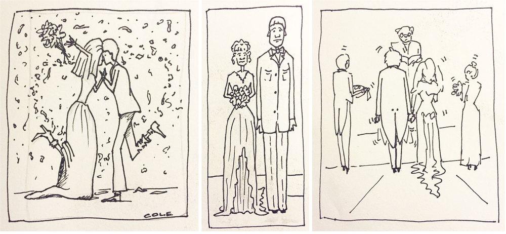 Marker Wedding Cards