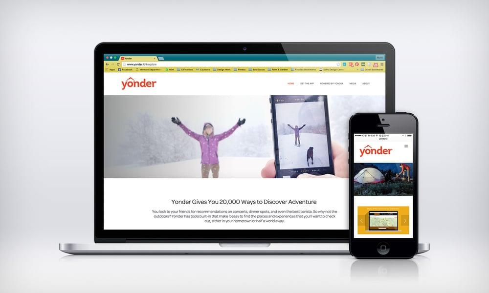 Yonder Website Design