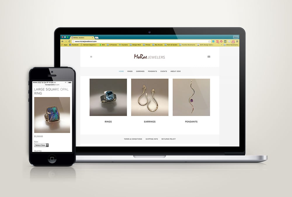 MoRae Jewelers Website Design