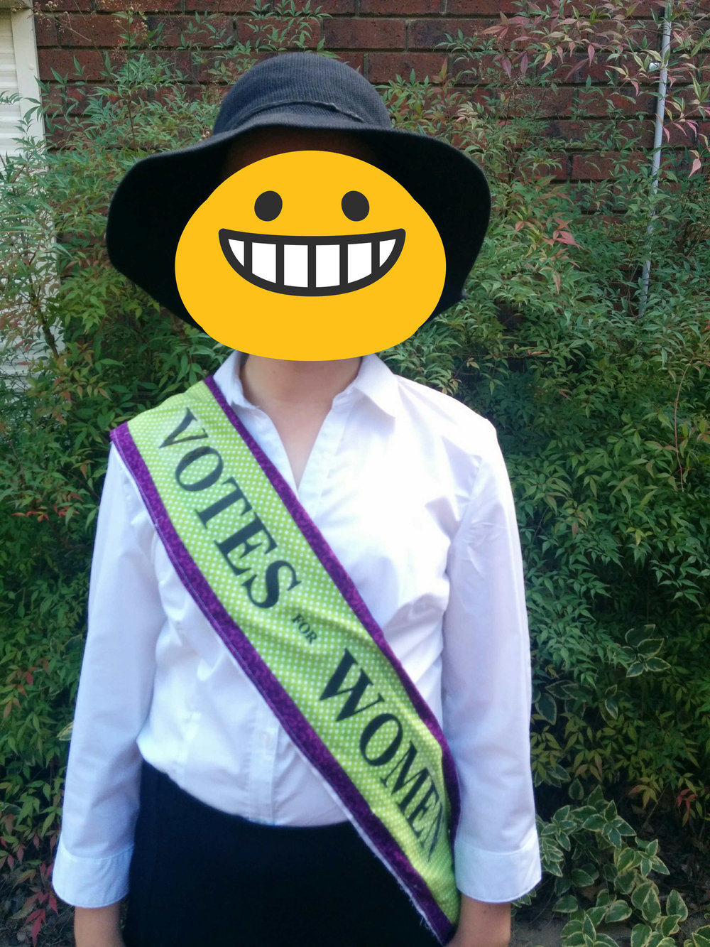 Miss 11 dress as Emmaline Pankhurst