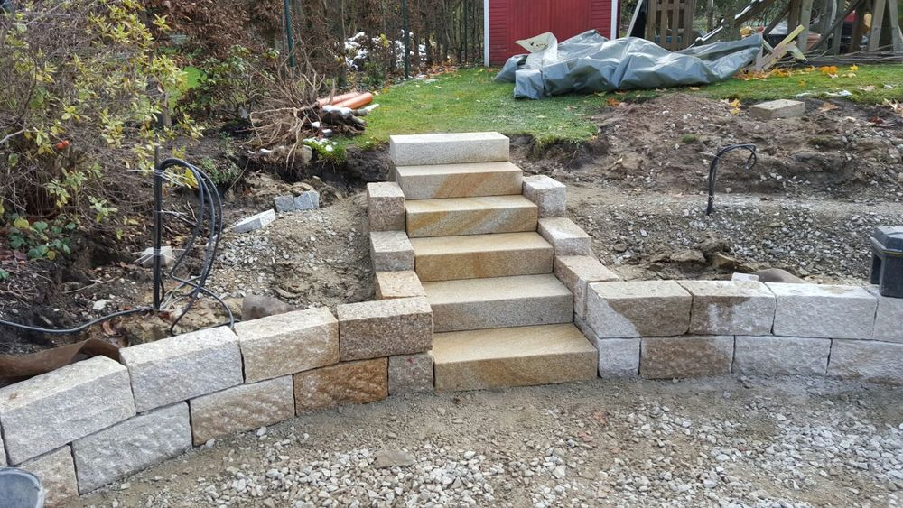 Eine Treppe mit wunderschönen Steinen!