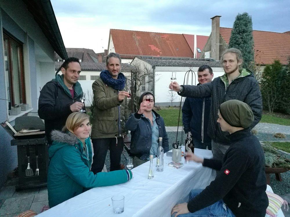 Sarah Kohler, Martin Hummel, Stephan Achhammer, Elias Achhammer, Bogdan Voitiuk, Felix Chrupala und Fabian Reger. (von links nach rechts)